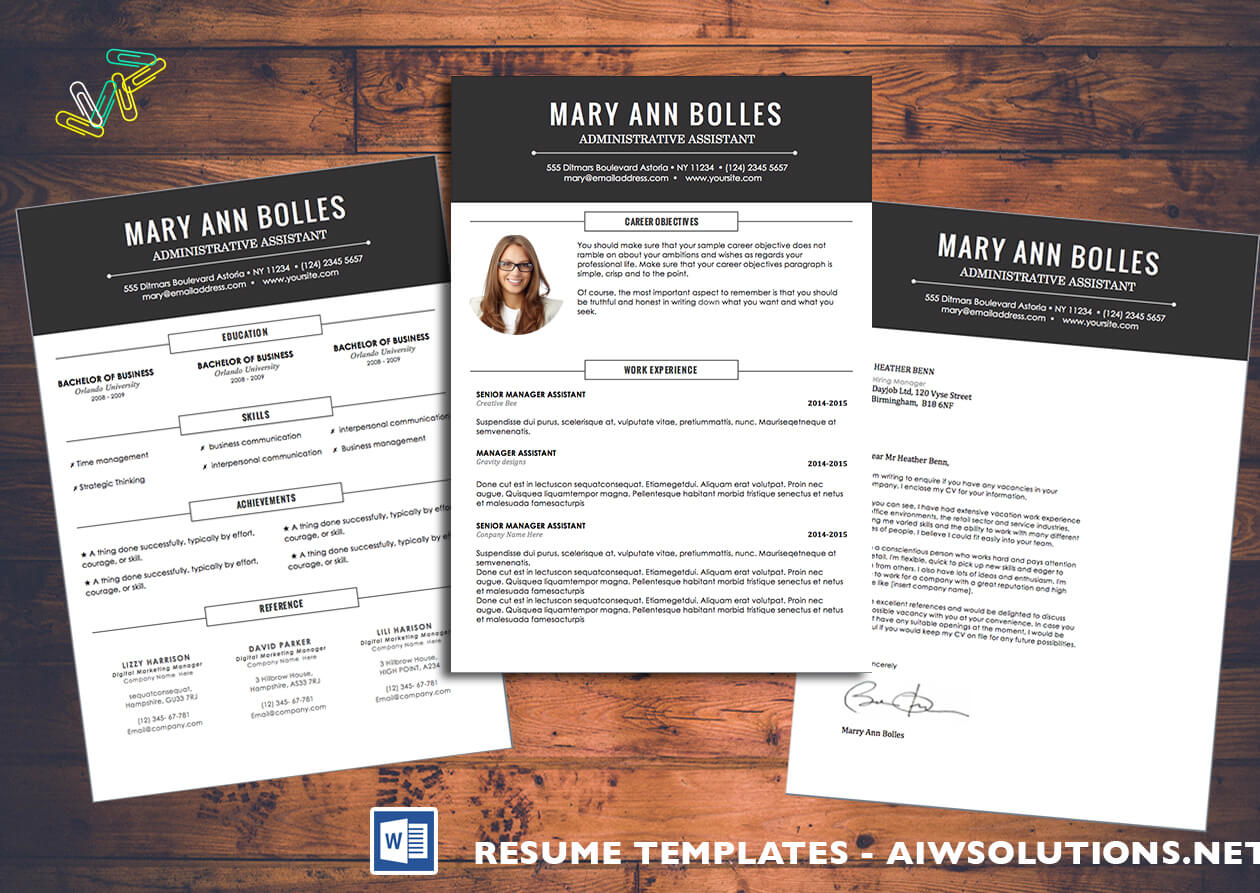 Resume Template Id02 throughout Resume Templates Word 2007