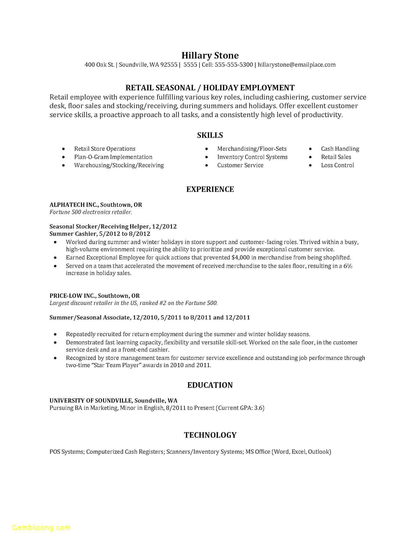 Resume – The Block Party Club with End Of Day Cash Register Report Template