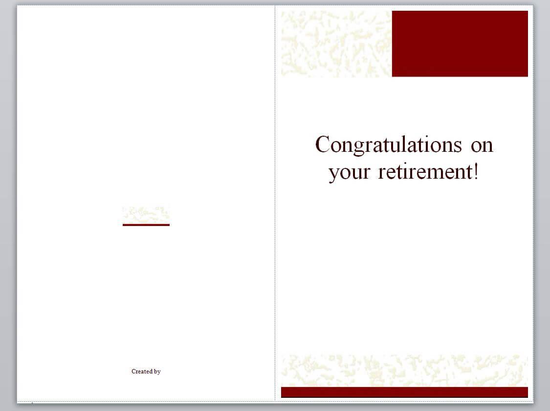 Retirement Card Template | Retirement Cards » Template Haven in Retirement Card Template