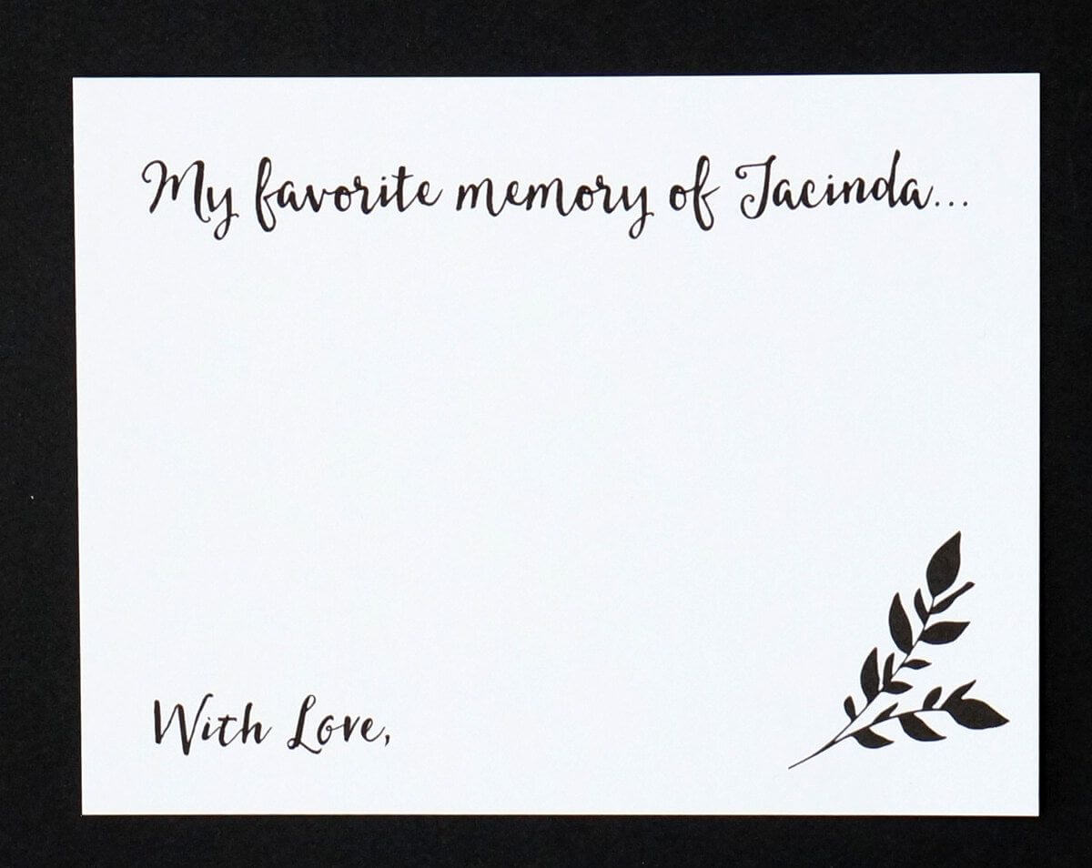 Retirement Memory Book Template | Funeral Guest Book Within In Memory Cards Templates