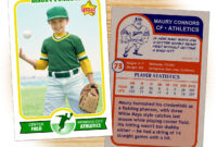 Retro 75 Series Is The Primary Custom Baseball Card Design pertaining to Baseball Card Template Psd