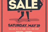 Retro Garage Sale Flyer In Yard Sale Flyer Template Word pertaining to Garage Sale Flyer Template Word
