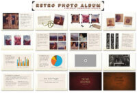 Retro Photo Album Ppt Template #ppt#dots#vintage#pictures pertaining to Powerpoint Photo Album Template