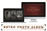 Retro Photo Album Ppt Template within Powerpoint Photo Album Template
