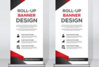 Roll Up Banner Design Print Template pertaining to Pop Up Banner Design Template