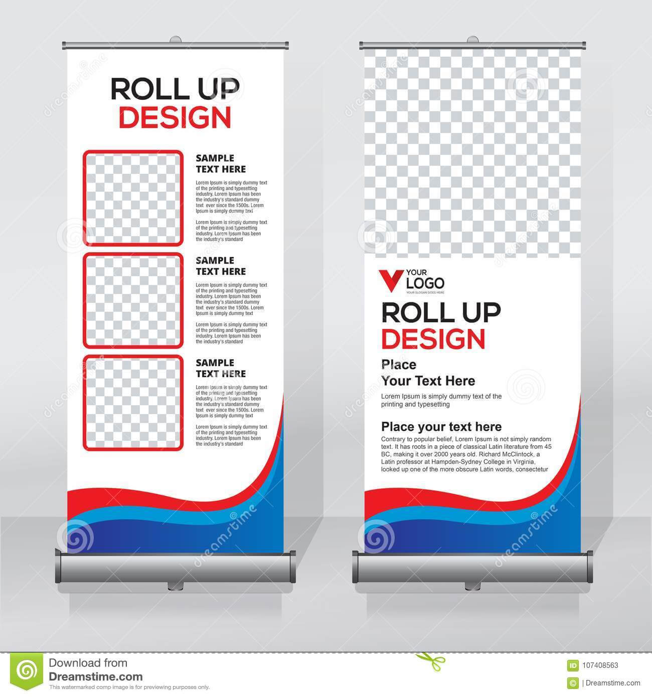 Roll Up Banner Design Template, Abstract Background, Pull Up regarding Retractable Banner Design Templates
