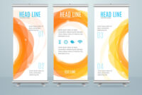 Roll Up Banner Stand Design Template inside Banner Stand Design Templates