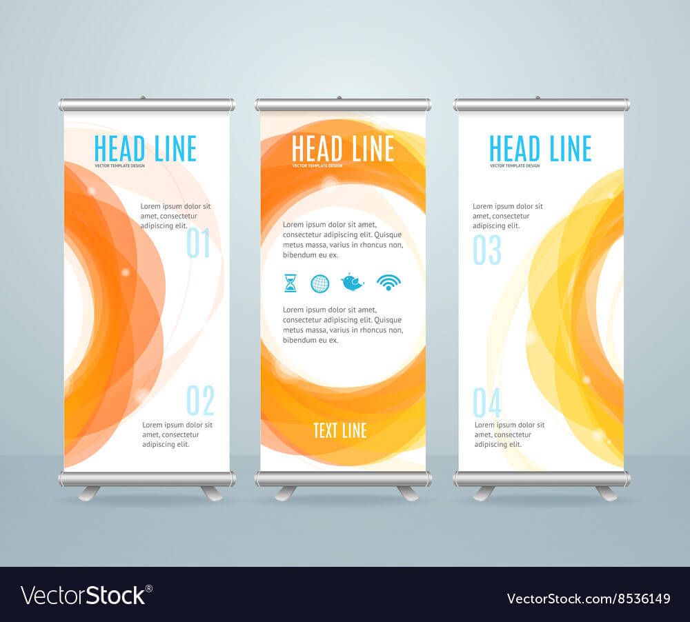 Roll Up Banner Stand Design Template inside Retractable Banner Design Templates