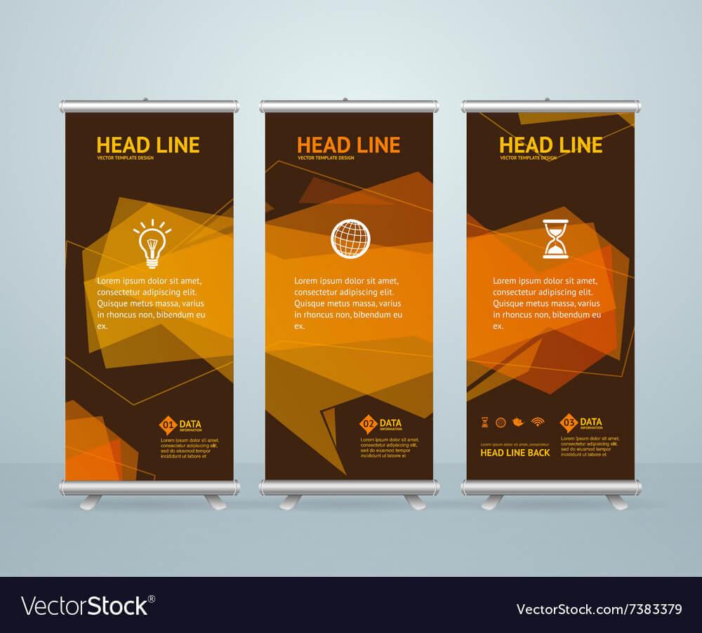 Roll Up Banner Stand Design Template regarding Retractable Banner Design Templates