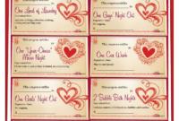 Romantic Love Coupon Template Printable | Love Coupons For throughout Love Coupon Template For Word