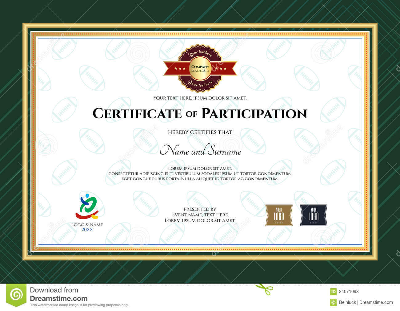 Rugby League Certificate Templates - Atlantaauctionco inside Rugby League Certificate Templates