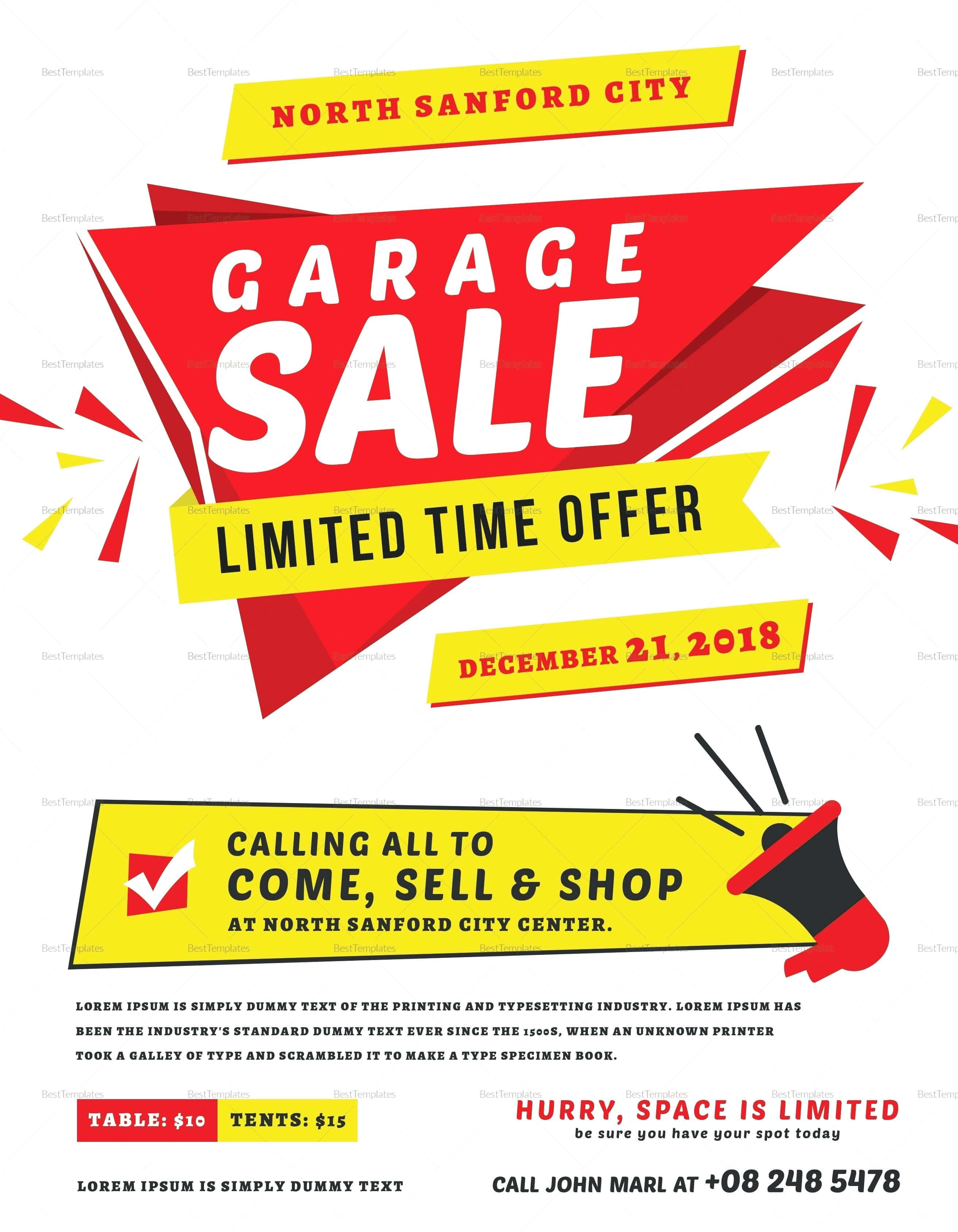 Rummage Sale Flyer Template – Proteussheet.co within Yard Sale Flyer Template Word
