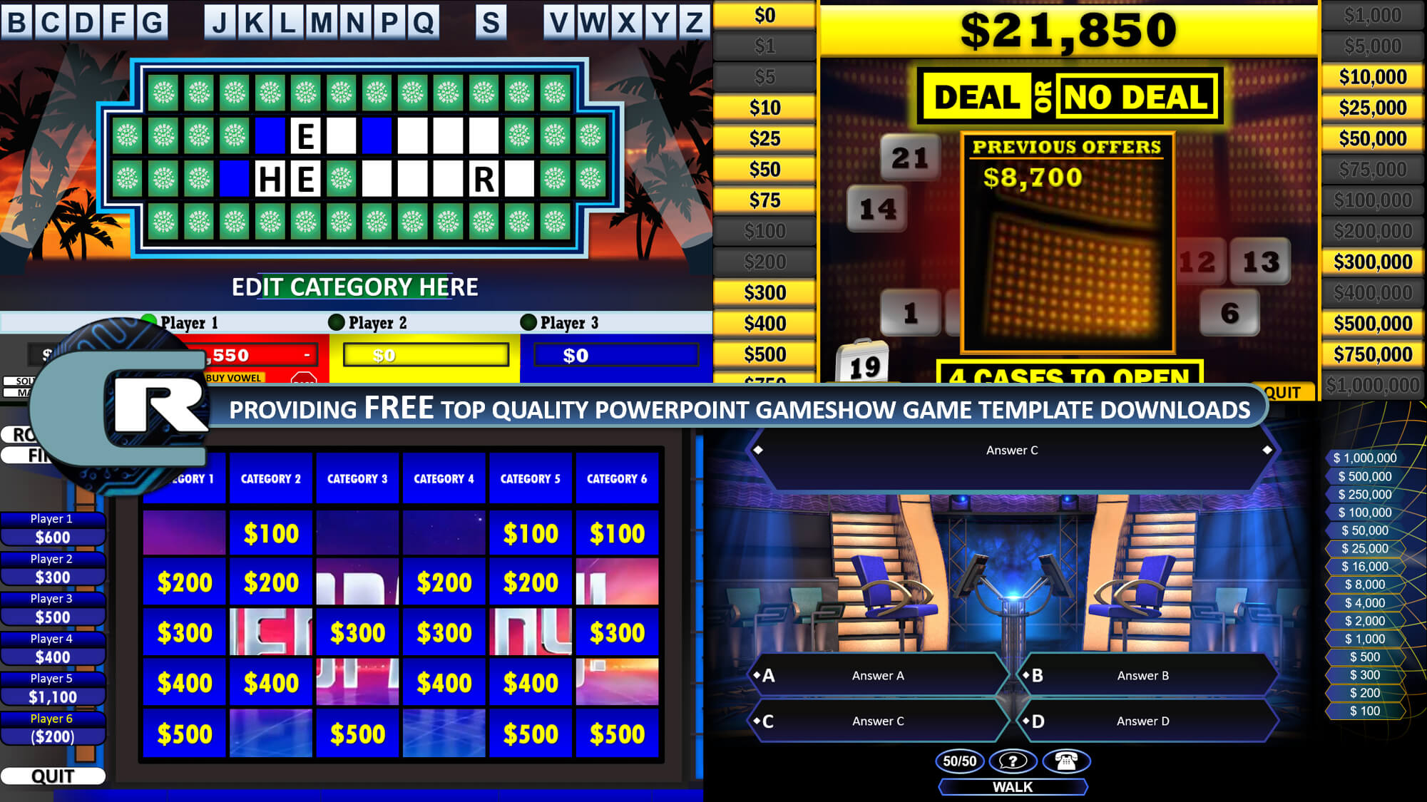 Rusnak Creative   Free Powerpoint Games & Templates! throughout Quiz Show Template Powerpoint