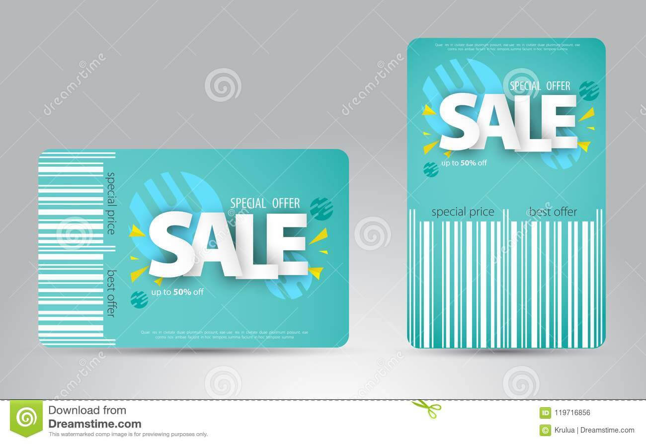 Sale Card Template Design For Your Business. Stock Vector Pertaining To Credit Card Templates For Sale