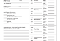 Sales Call Report Template – 3 Free Templates In Pdf, Word with Sales Call Report Template Free