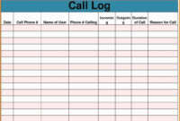 Sales Call Report Template Free Also Daily Excel Unique with regard to Sales Call Report Template Free