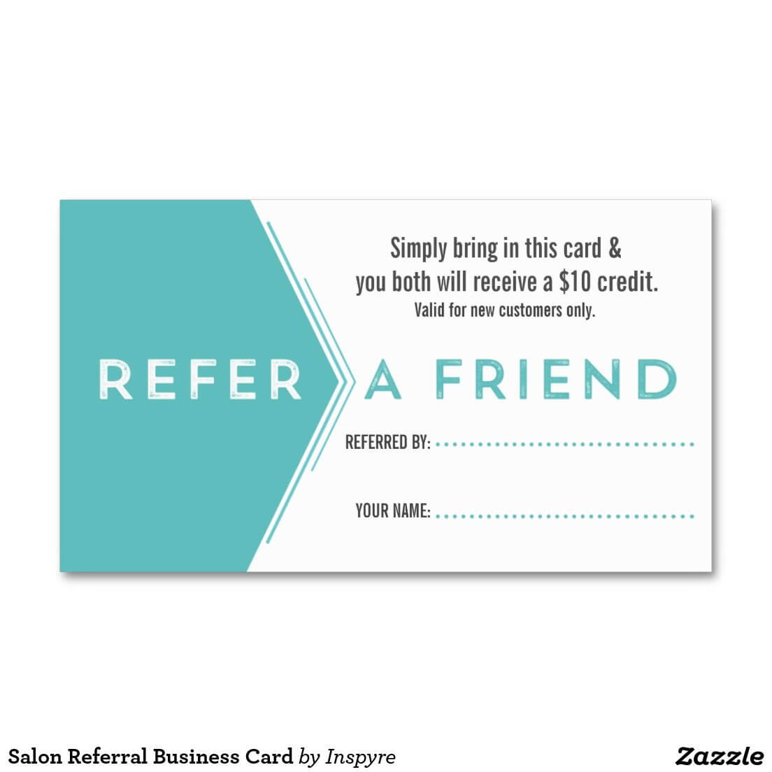 Salon Referral Business Card | Zazzle | Referral Cards In Referral Card Template