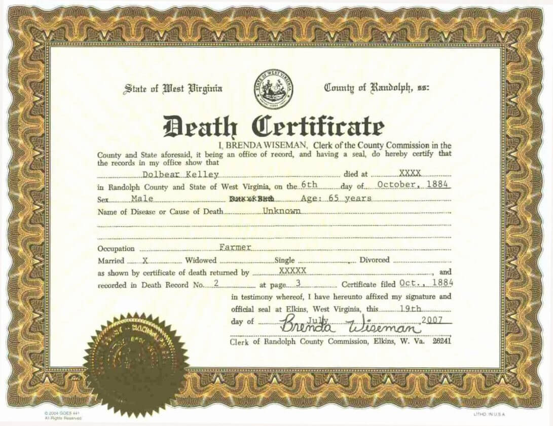 Sample Blank Birth Certificate Fresh Fake Template Free within Fake Birth Certificate Template