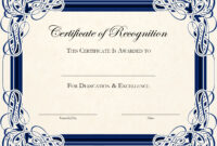 Sample Blank Certificate Of Recognition Best Award with regard to Downloadable Certificate Templates For Microsoft Word