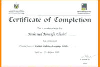 Sample Certificate Of Acceptance And Completion Templates with regard to Certificate Of Acceptance Template