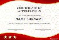 Sample Certificate Of Appreciation For Service Patriotic intended for Certificate For Years Of Service Template