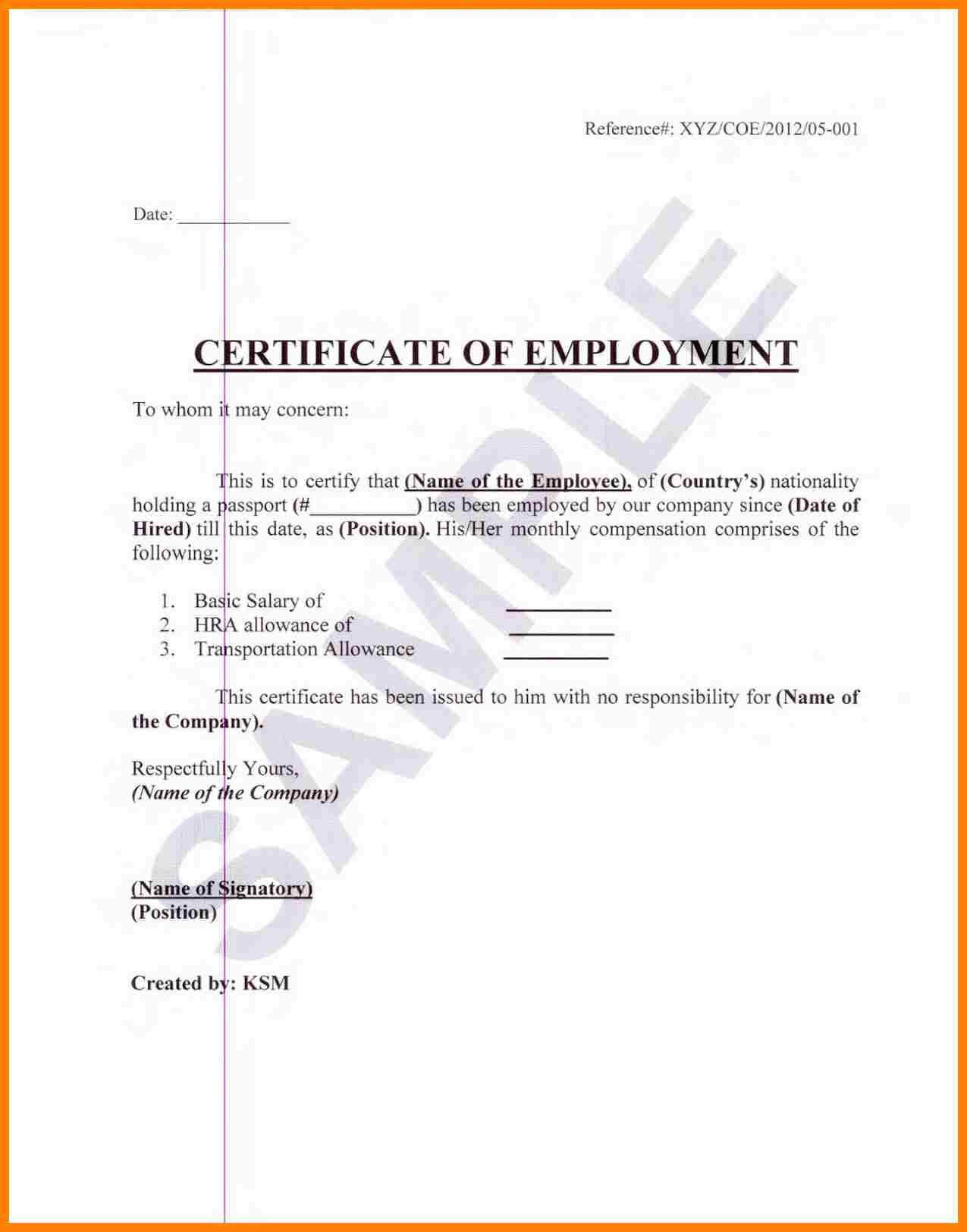 Sample Certification Employment Certificate Tugon Med Clinic Intended For Certificate Of Employment Template