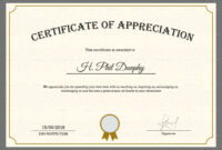 Sample Company Appreciation Certificate Template in Thanks Certificate Template