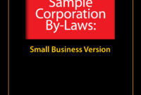 Sample Corporate Bylaws – Evergreen Small Business throughout Corporate Bylaws Template Word
