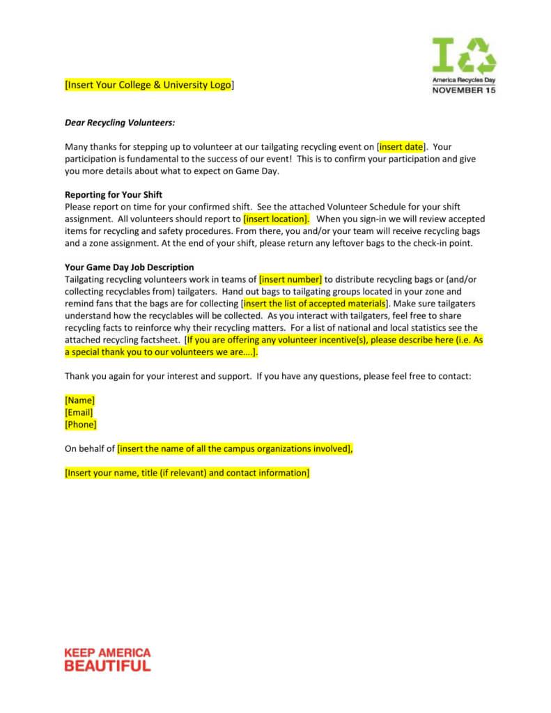Sample Memo For Volunteers with regard to Volunteer Report Template