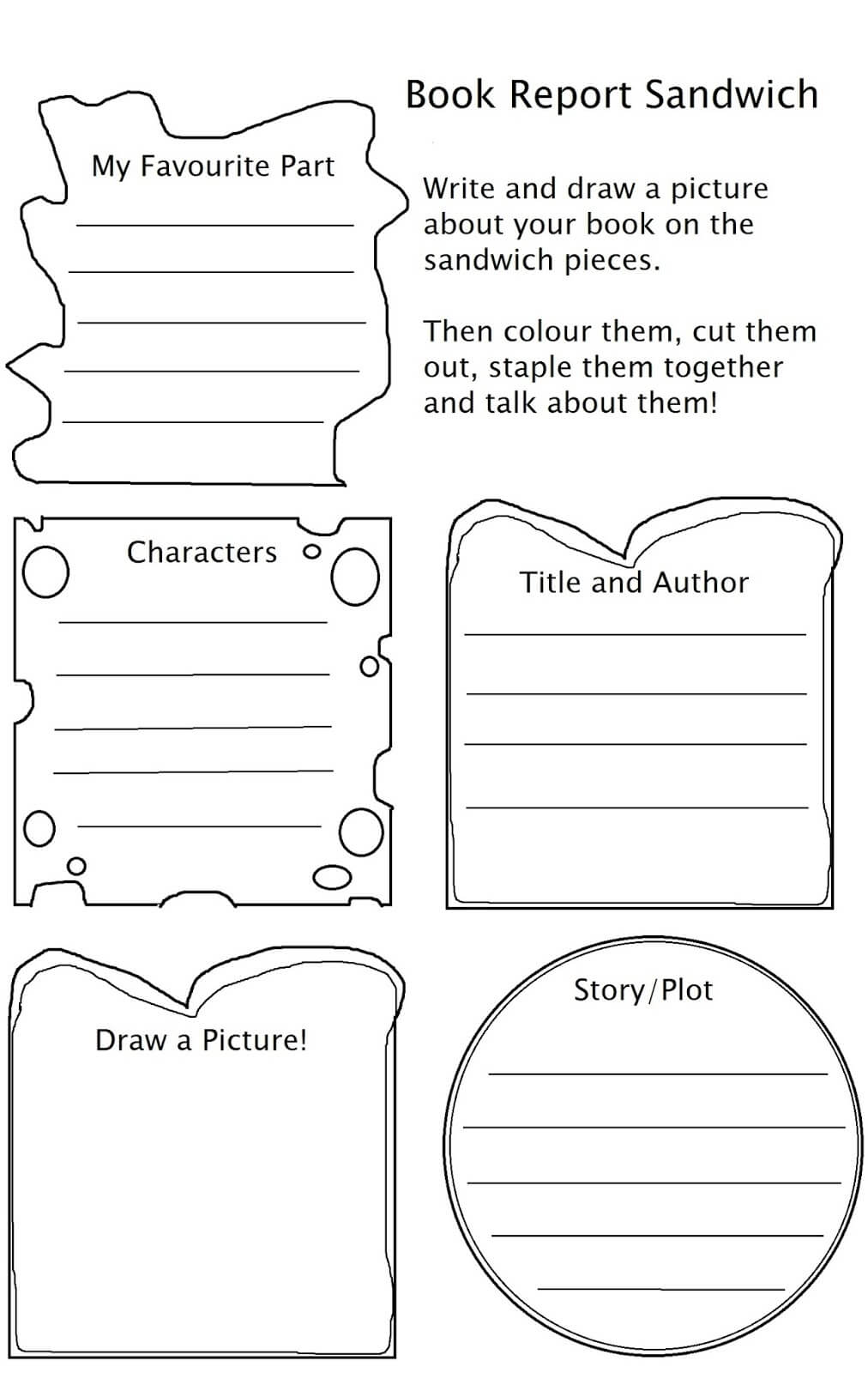 Sandwich Book Report Printable Template - Atlantaauctionco With Regard To Sandwich Book Report Printable Template