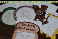 Sandwich Book Report Printable | Writing | Improve Reading in Sandwich Book Report Printable Template
