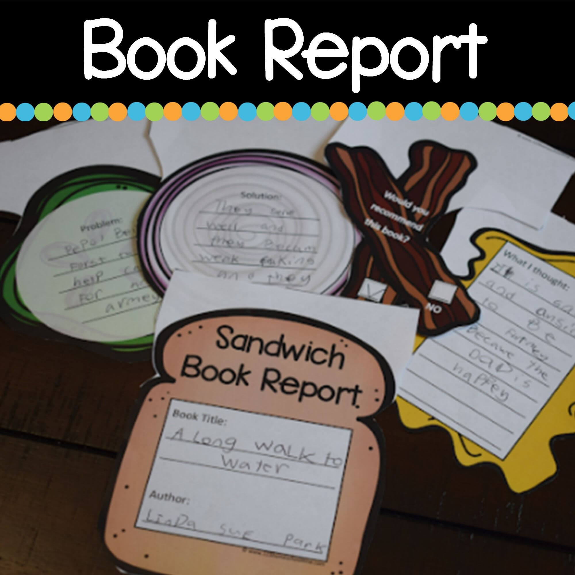 Sandwich Book Report Printable | Writing | Improve Reading in Sandwich Book Report Printable Template
