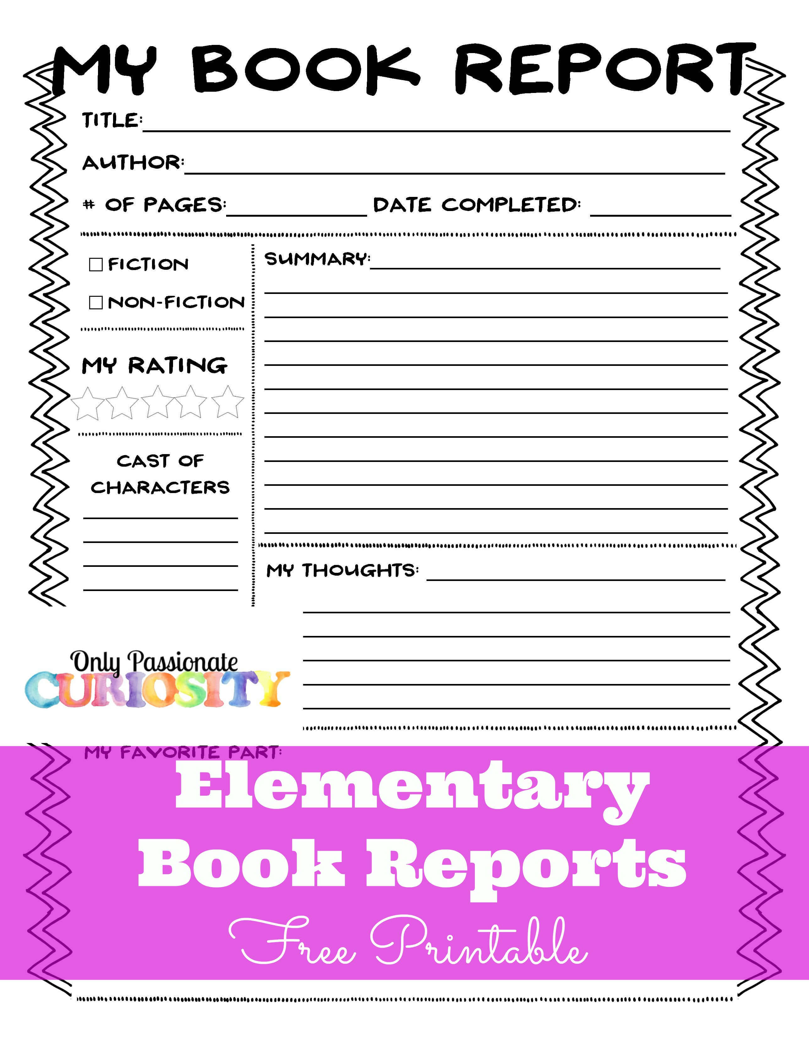 Sandwich Book Report Printout intended for Sandwich Book Report Printable Template