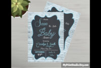 Save The Date Baby Shower Card Template Made In Ms Word regarding Save The Date Template Word