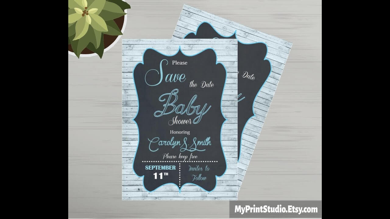 Save The Date Baby Shower Card Template Made In Ms Word with regard to Save The Date Templates Word