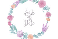 Save The Date Card Template Decorated With Round with regard to Save The Date Cards Templates
