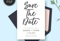 Save The Date Card Templates, Wedding Save The Dates with regard to Save The Date Cards Templates