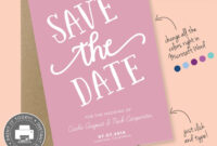 Save The Date Printable Template For Microsoft Word – Carla within Save The Date Template Word