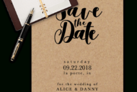 Save The Date Templates For Word [100% Free Download] for Save The Date Template Word