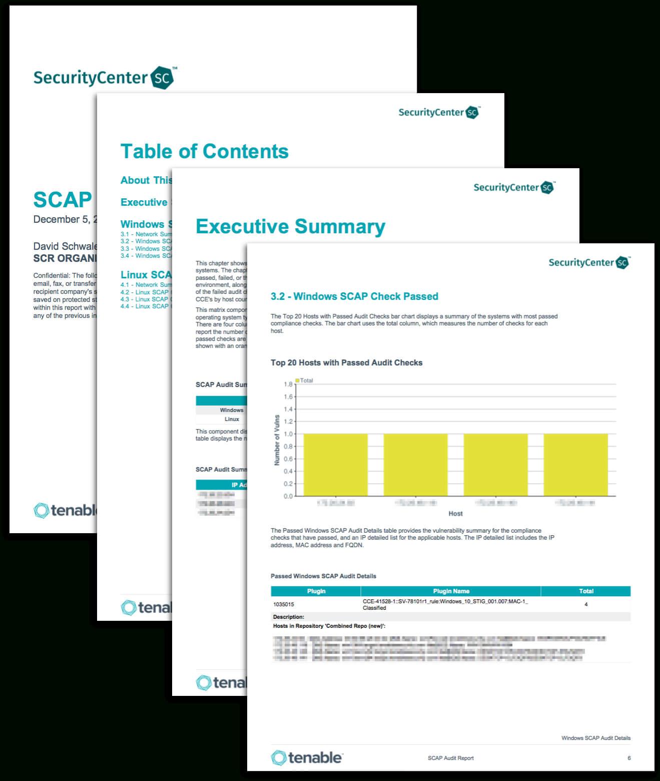 Scap Audit Report - Sc Report Template | Tenable® for Security Audit Report Template