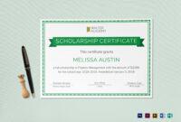 Scholarship Certificate Template regarding Scholarship Certificate Template Word