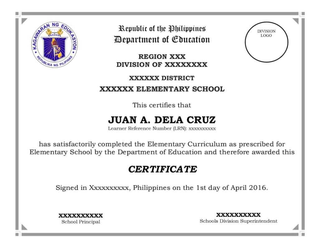 School Certificates Sample Templates | Certificate Templates inside Certificate Templates For School
