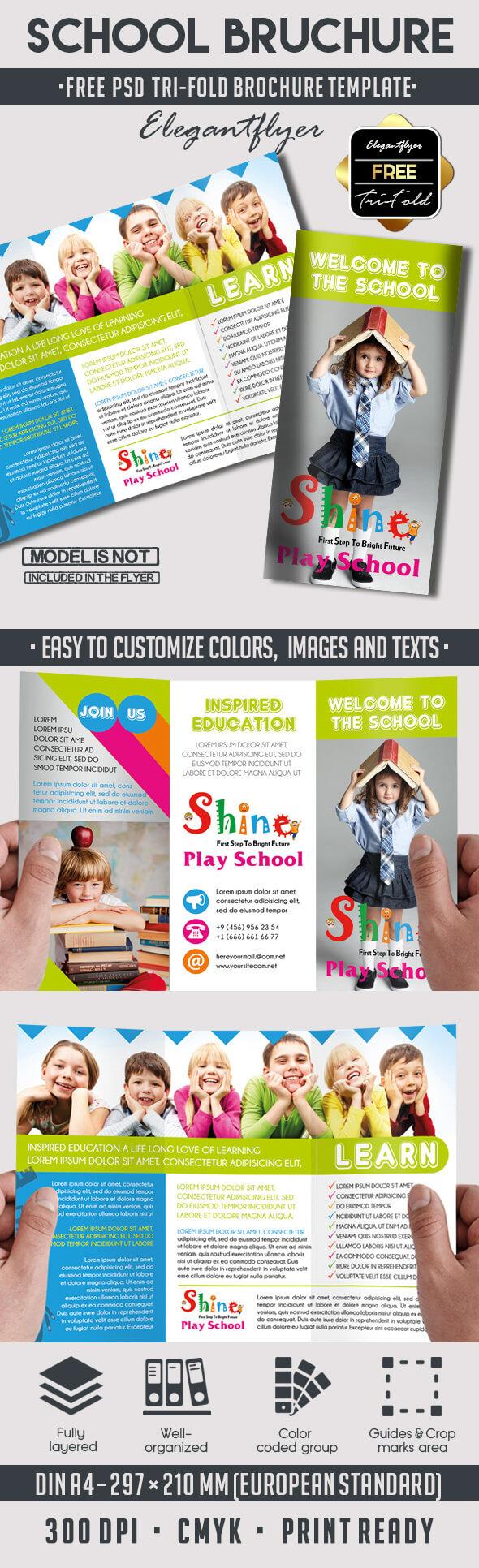 School – Free Psd Tri Fold Psd Brochure Template On Behance Regarding Play School Brochure Templates