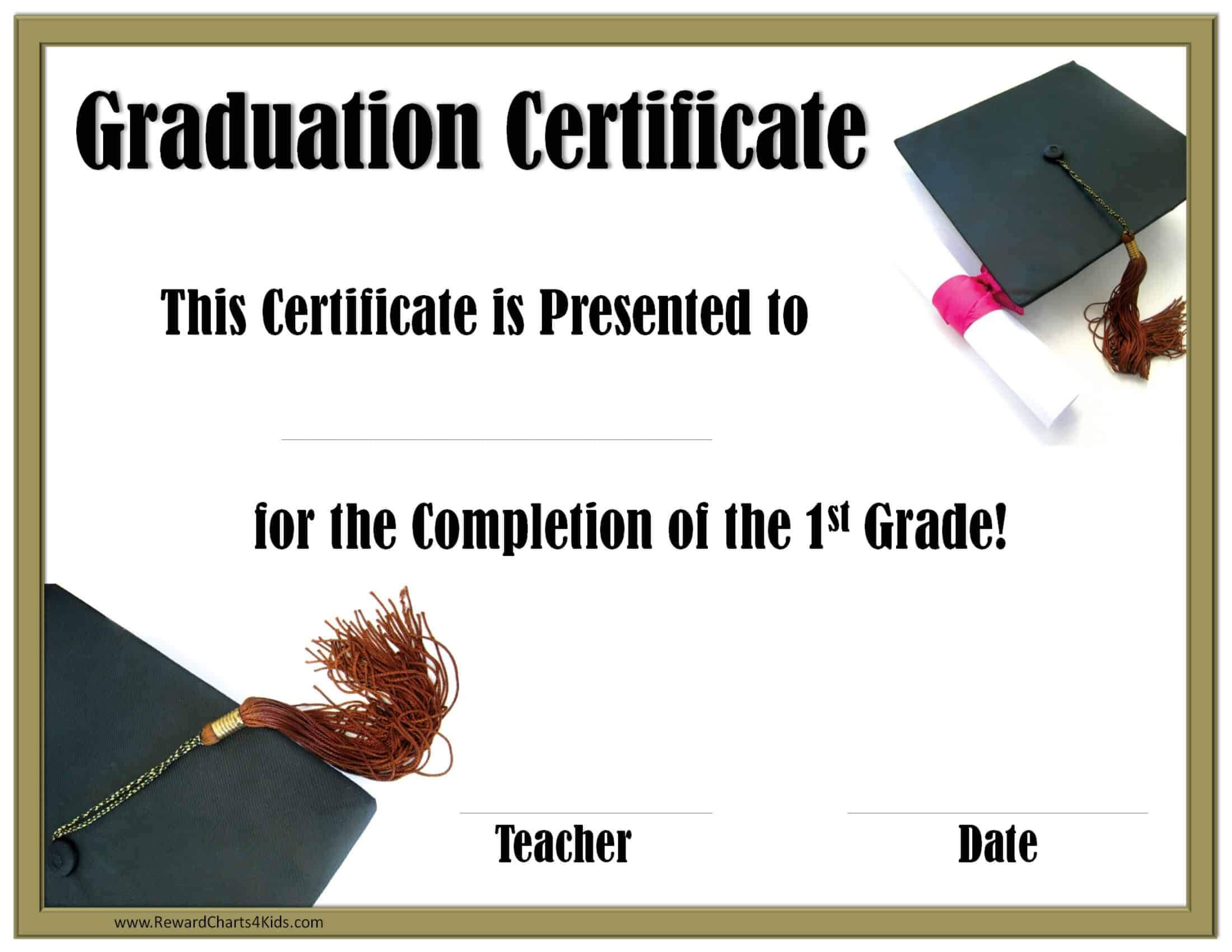 School Graduation Certificates | Customize Online With Or Intended For 5Th Grade Graduation Certificate Template