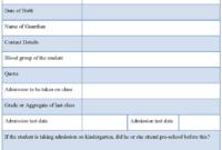School Registration Form : Sample Forms in School Registration Form Template Word