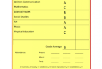 School Report Template intended for Result Card Template