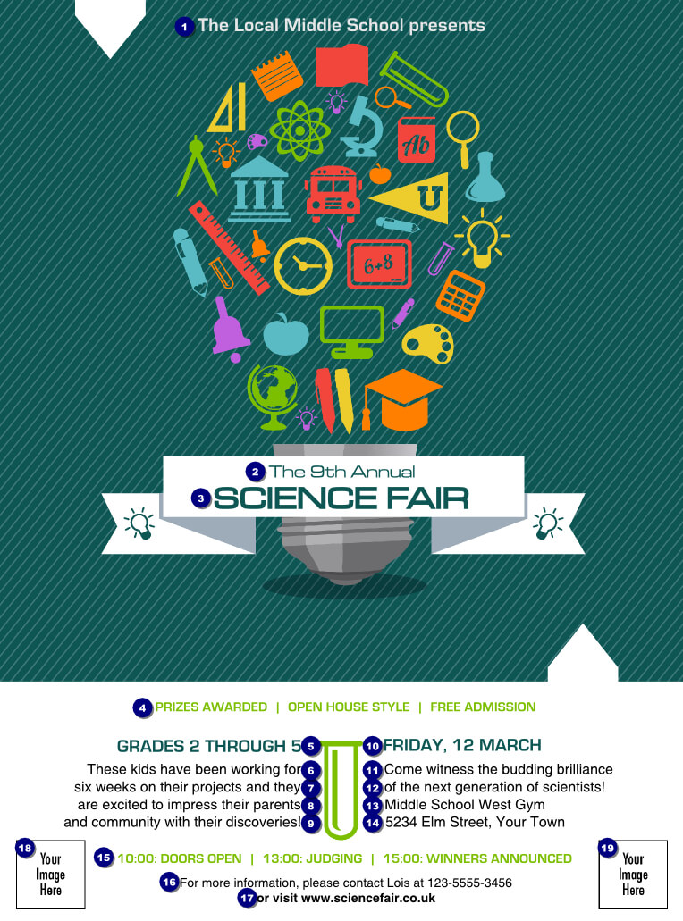 Science Fair Flyer | Science Fair Flyer - Ticket Printing Regarding Science Fair Banner Template