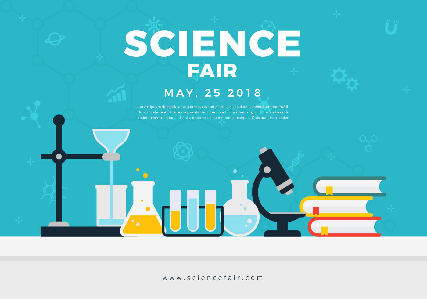 Science Fair Poster Banner - Download Free Vectors, Clipart Pertaining To Science Fair Banner Template