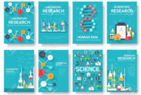 Science Information Cards Set. Laboratory Template Of Flyear,.. for Science Fair Banner Template