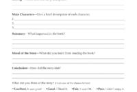 Second Grade Book Report Template | Book Report Form Grades with Book Report Template 4Th Grade